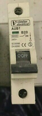 6 kA MCB SINGLE POLE TYPE C CURVE 20A AUB1 1P C20A PRO ELEC