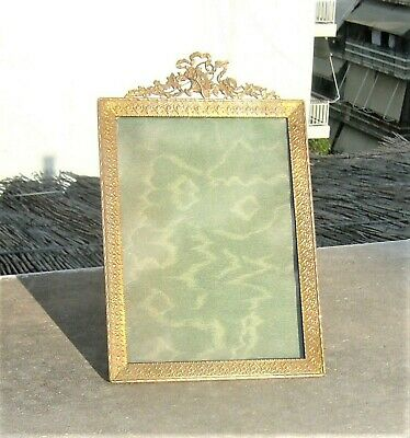 ANTIQUE FRENCH EMPIRE PICTURE PHOTO FRAME GILD BRASS ORMOLU 19th CENTURY