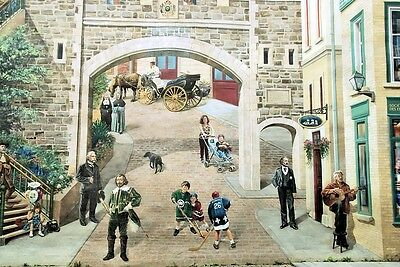 "oil painting handpainted on canvas ""a wide variety of people in the town ""@N2524"