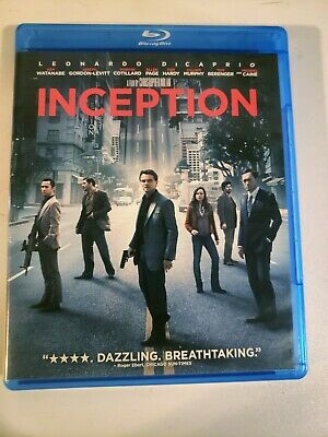 Inception (Blu-ray, 2010) Leornado DiCaprio Action Packed Movie SHIPS FAST