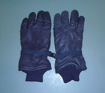 US Military Issue Black Leather Intermediate Cold Wet Weather Gloves Sz XX-LARGE