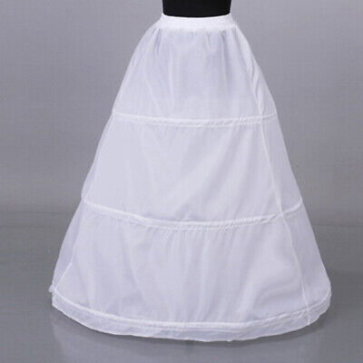 1Pc Women 3 hoop crinoline wedding ball gown bridal dress petticoat skirt _zrSN
