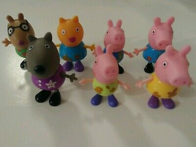 Peppa Pig Mini Figure Pack Playset Cute Toy Collection - 7Pc Set