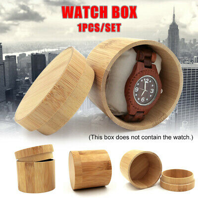 Wooden Watch Box Pure Bamboo Wood Vintage for Men Women Birthday Gift Durable
