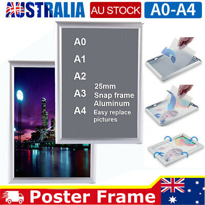 A0 A1 A3 A4 Clip Frame Board Poster Indoor Outdoor Display Wall Mount Aluminium