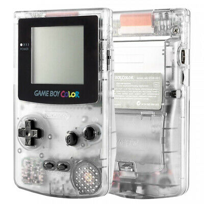Transparent Clear Full Housing Shell Button Sets Replacement for game boy color