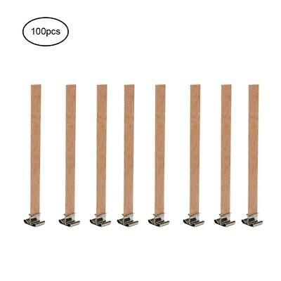 100 PCS Wooden Candle Wicks Core Supplies Sustainer DIY Soap Making For Party