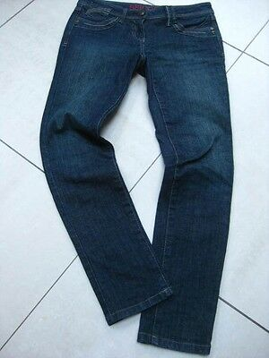 LADIES womens NEXT SKINNY blue Jeans stretch size UK 8 regular back crease