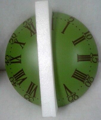 Wall Clock Sublime round Green Antique Decor Furniture Vintage Exclusive Gift