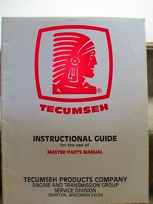 Tecumseh Instructions for Master Parts Manual