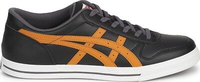 Mens Boys Onitsuka Tiger Aaron Black Casual Trainers Shoes Size UK 6.5  EU 40.5