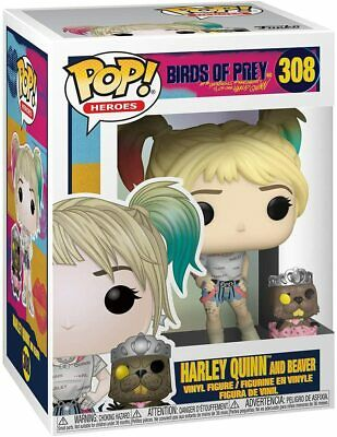 Funko Pop Heroes: Birds of Prey - Harley Quinn with Beaver Vinyl Figure