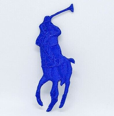 Ralph Lauren Polo logo Sew on Iron on Embroidered Patch - Blue