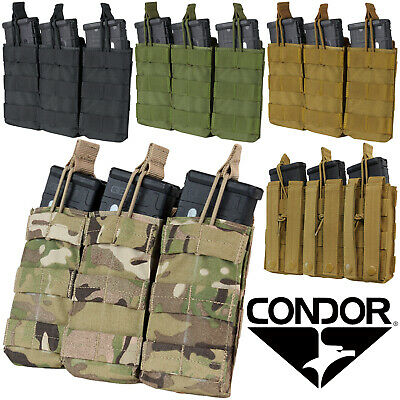 Condor MA27 MOLLE Triple Open Top 30 Round Rifle Magazine Mag Pouch Holster
