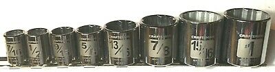 Rare 8 Craftsman Laser Etched 3/8 In Drive Sae 12 Pt Sockets Usa Made Some Skips