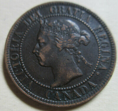 1897 Canada Large Cent Coin. EF NICE GRADE 1 PENNY (RJ753,814,C447,C465)