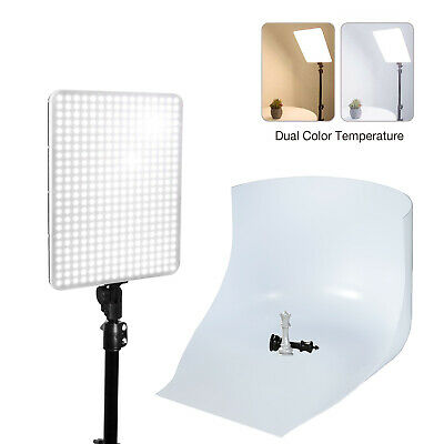Table Top Photo Studio LED Dimmable Dual-Color Temperature Photo Video Light NEW