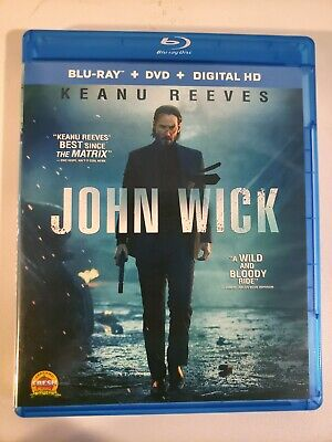 John Wick (Blu-ray, 2015) Keanu Reeves Action Packed  Movie Like New SHIPS FAST