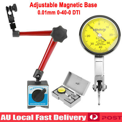 Flexible Magnetic Base Holder Stand & Scale Precision Dial Test Indicator Gauge