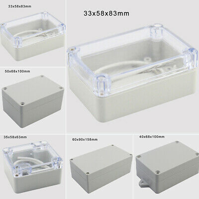 Waterproof ABS Electronic Project Enclosure Plastic Cases Screw Junction Box AU