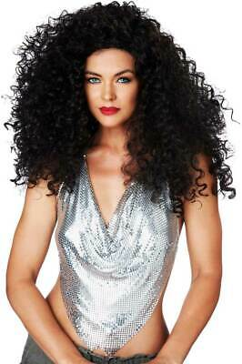 Discorama Mama 70/'s Disco Diva Auburn Curly Haired Costume Wig Fancy Dress