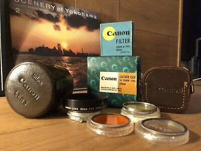 *Accessories* Canon lens case, metal hood , filters For Rangefinder Camera Japan