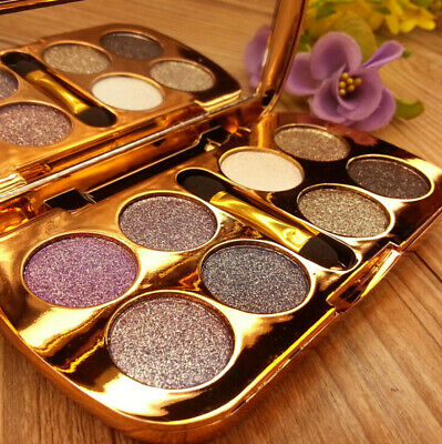 8 Colors Pro Eye Shadow Sparkling Makeup Eyeshadow Palette  Shimmer Brush Hot
