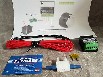Towbar grey split charge Towing Self Relay kit voltage sensing charging box