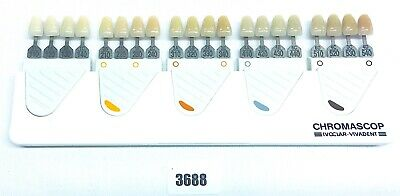 Chromascop Ivoclar Vivadent Color Color Chart for Plastic + Ceramic