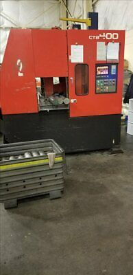 Amada Ctb400 Cnc Carbide Blade Vertical Band Saw W/ Conveyor B40332