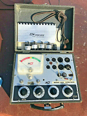 B&K Dyna-Quik 600 Vintage Tube Tester Guitar Amplifier Ham CB AM Radio TV