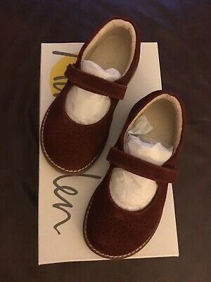 Mini Boden Girls Leather Mary Jane Shoes Size 24 (7) Bramble Red