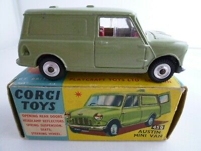 Vintage Corgi 450 Austin Mini Van In Original Box Issued 1964-67