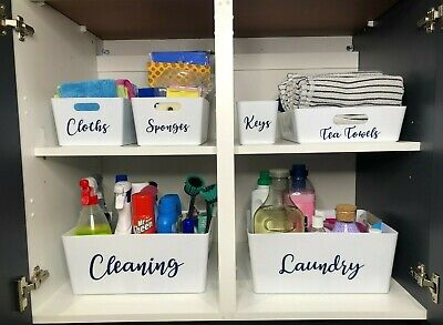 Personalised Storage boxes/ Cleaning caddy/ Mrs Hinch inspired storage