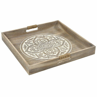 NEW White Washed Lyon Serving Tray - Lifestyle Traders,Kitchen & Butler Trays
