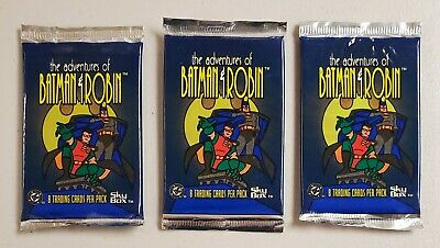 Adventures of Batman & Robin Skybox Lot of 3 (Three) Unopened Sealed Foil Packs