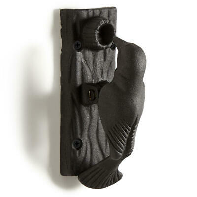 Signature Hardware Flicker Cast Iron Door Knocker in Black Powder Coat