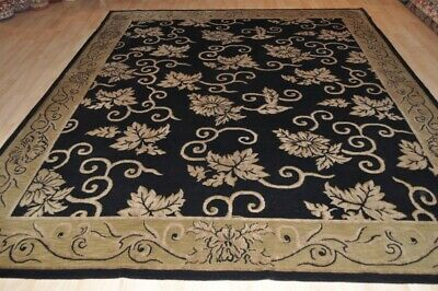ON SALE 8x10 ft.  Top quality Tibetan contemporary Handmade rug beautiful black