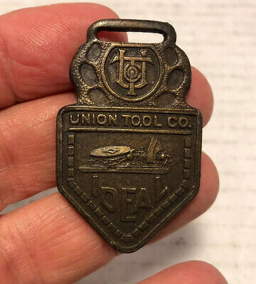 Antique Brass or Bronze Ideal Union Tool Company Watch Fob