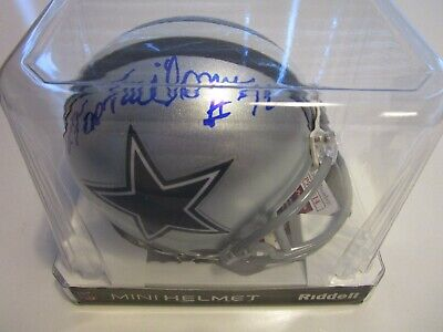 Ed Too Tall Jones #72 DALLAS COWBOYS AUTOGRAPHED RIDDELL MINI-HELMET JSA Witness