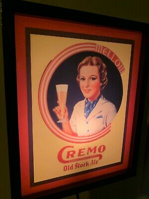 Cremo Connecticut Beer Bar Tavern Man Cave Lighted Advertising Sign
