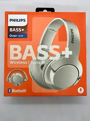 Philips SHB3175WT Bass+ Over-Ear Wireless Headphones 12 Hours Playback - White