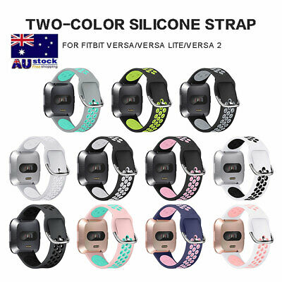 Fitbit Versa 2 / Lite Band Replacement Silicone Watch Strap Sports Wristband AU