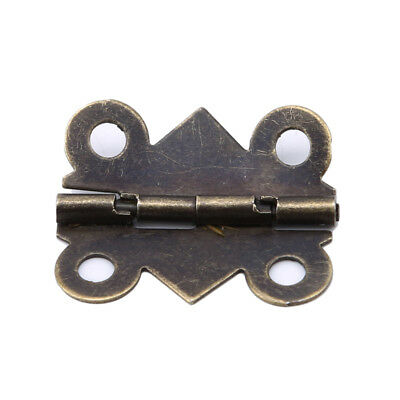 Vintage Mini Butterfly Metal Door Hinges Wooden Cabinet Drawer Jewelry Box CP