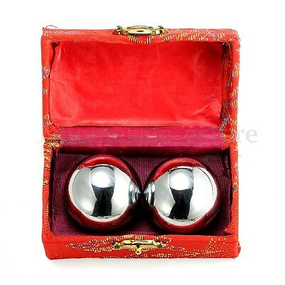 Baoding Balls Chinese Health Exercise Stress Relief Chrome Color .