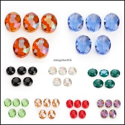 Crystal 20mm Wholesale Beads Spacer Oval Faceted Rondelle Glass Loose 20pcs