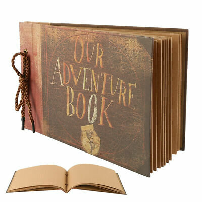Vintage Photo Album Scrapbook Our Adventure Book Memory Anniversary DIY Gift UK
