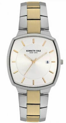 KENNETH COLE Men's Classic Stainless Steel Square Face Watch KC50892007  NEW