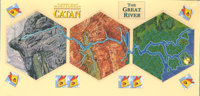 Mayfair: Settlers Of Catan: The Great River: 2005 Board Game Expansion (NEW)
