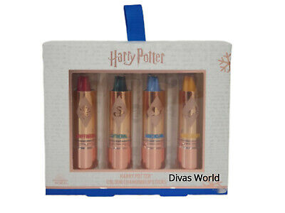 Harry Potter Colour Changing Lipstick Gift Set of 4 Brand New in Box